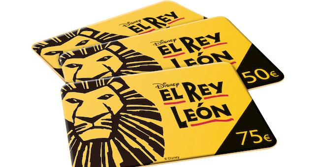Tarjeta regalo Rey León