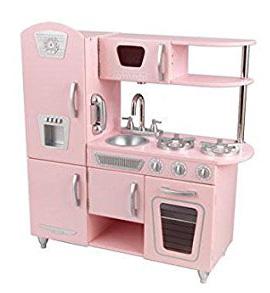 Cocinita de madera rosa